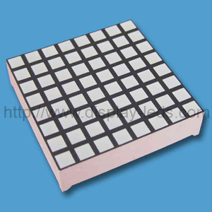 1.2 inci 8x8 Dual Color LED Square Dot Matrix