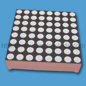 1.2 inci 8x8 warna tunggal LED Dot Matrix