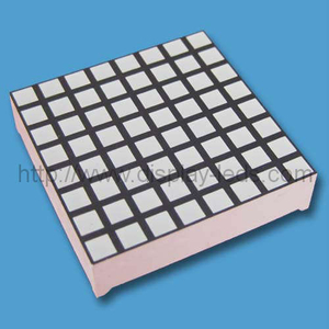 1.2 inci 8x8 LED Square Dot Matrix