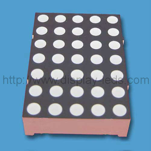 Layar LED 1,2 inci (30 mm) 5x7 dot matrix